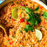 Cheesy Queso Fiesta Rice long Pinterest pin