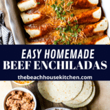 Easy Beef Enchiladas long Pinterest pin