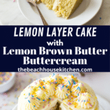Lemon Layer Cake long Pinterest pin