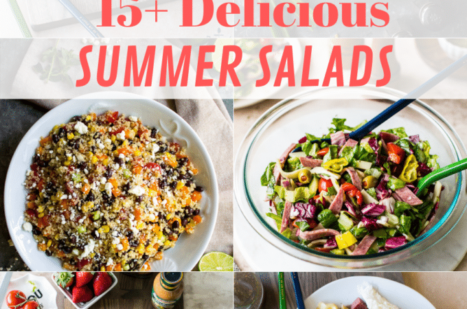 15+ Delicious Summer Salad collage