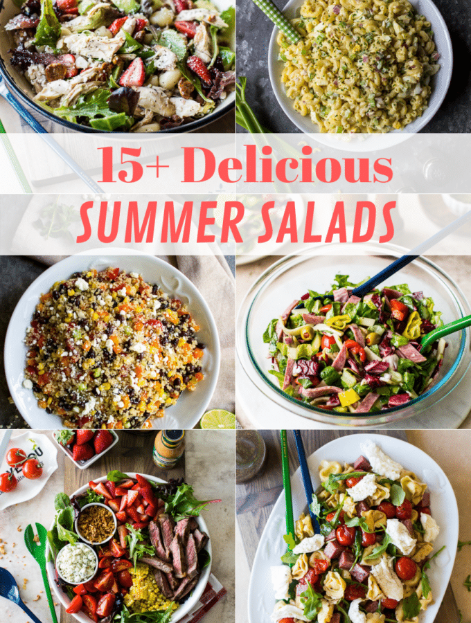 15+ Delicious Summer Salad collage