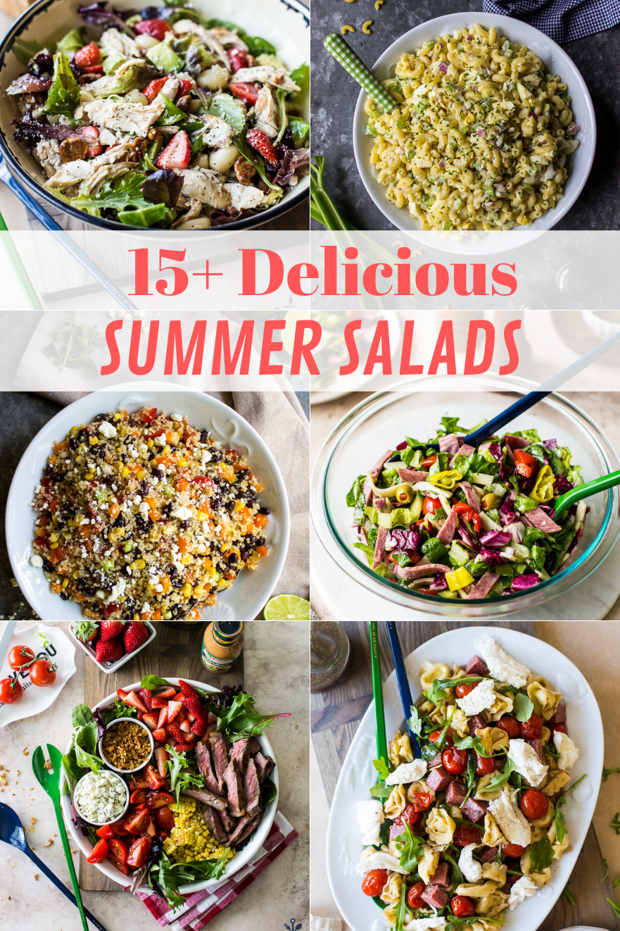 15+ Delicious Summer Salads collage