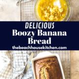 Boozy Banana Bread long Pinterest pin