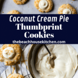 Coconut Cream Pie Thumbprint Cookies long Pinterest pin