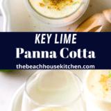 Key Lime Panna Cotta long Pinterest pin