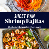 Sheet Pan Shrimp Fajitas long Pinterest pin