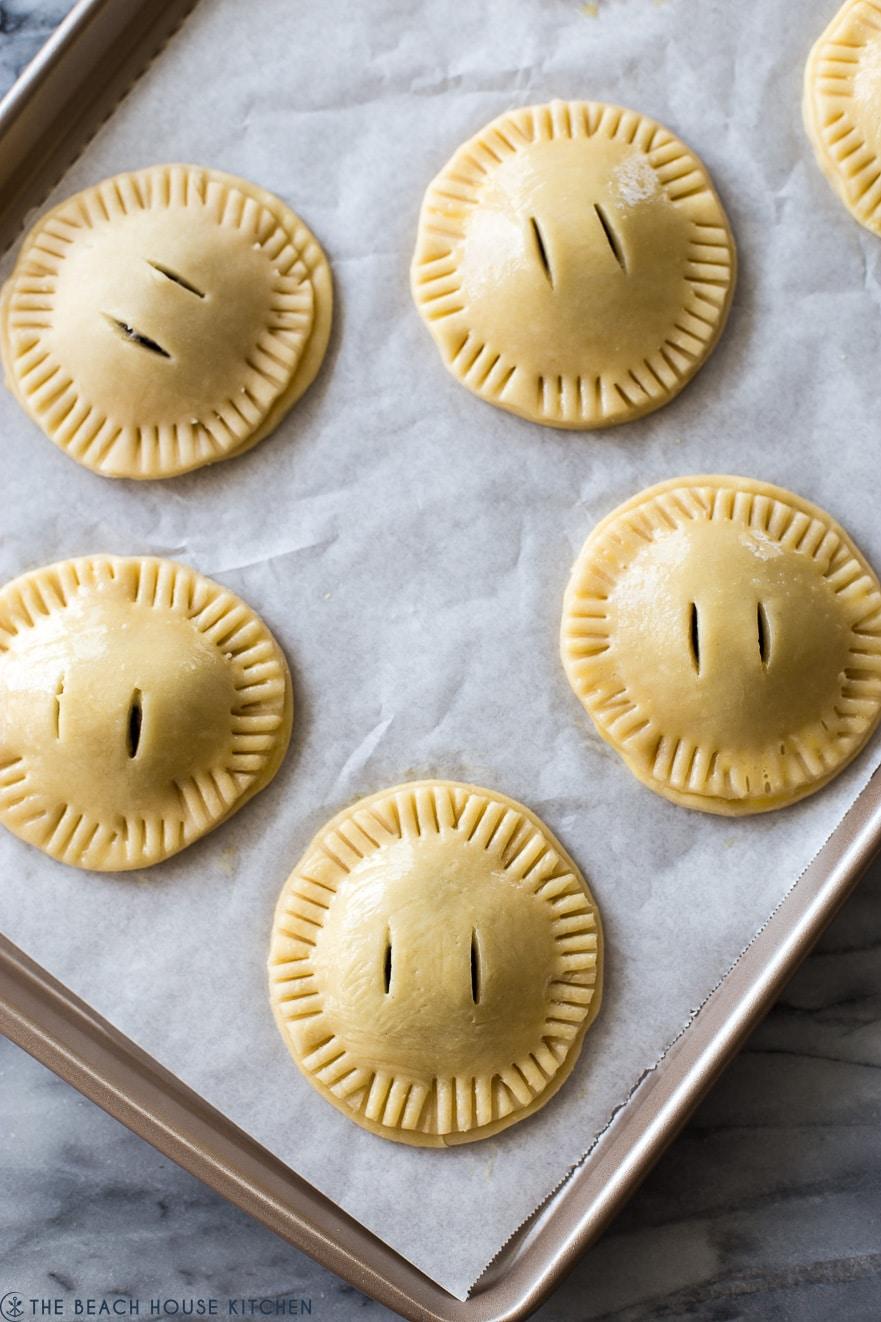 Overhead phot of prebaked hand pies