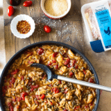 One-Pot Balsamic Chicken and Orzo long Pinterest pin