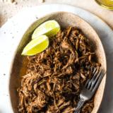 Slow Cooker Beef Barbacoa long Pinterest pin