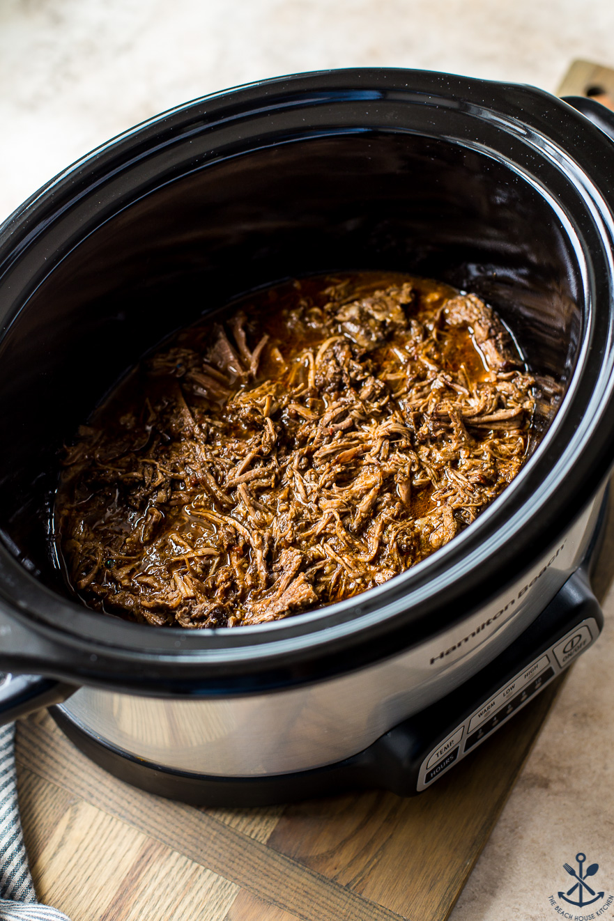 Beef Barbacoa in a slow cooker