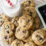 Chewy Brown Sugar Blueberry Cookies