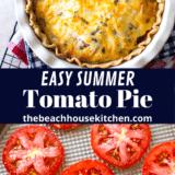 Summer Tomato Pie long Pinterest pin