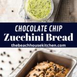 Chocolate Chip Zucchini Bread long Pinterest pin