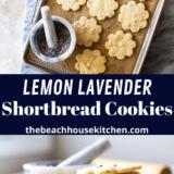 Lemon Lavender Shortbread Cookies long Pinterest pin