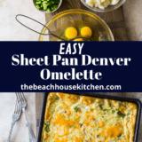 Sheet Pan Denver Omelette long Pinterest pin