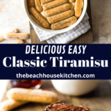Easy Classic Tiramisu long Pinterest pin